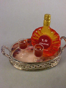 1&quot; Scale Cognac On A Tray