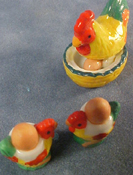 1&quot; Scale Egg Cup Chicken Set