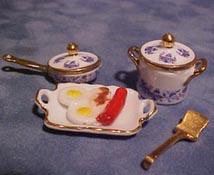 "1"" Scale Porcelain Cookware Set"