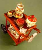 "1"" Scale Filled Dessert Cart"