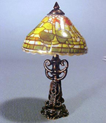 "1"" Scale Reutter Porcelain Fruit Shade Table Lamp"