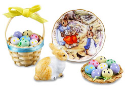 Reutter Porcelain Deluxe Peter Rabbit Easter Set 1:12