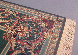 Mc Bay Miniatures Green Rose Medallion Carpet