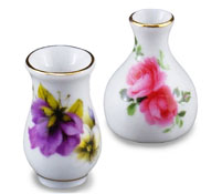Reutter Porcelain Flower Vase Set 1:12