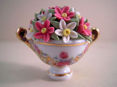 "Reutter 1"" Scale Porcelain Cup with Flowers"