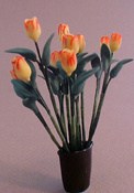 "Bright deLights 1"" Scale Yellow Tulips In A Blue Vase"