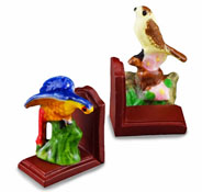 Reutter Porcelain Wild Bird Bookend Set 1:12