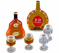 Reutter Porcelain Evening XO Cognac Set 1:12