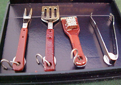 "1"" Scale Backyard Barbeque Tools"
