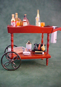 "1"" Scale Filled Liquor Serving Cart"