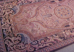 "1/2"" Scale Mauve Filagree Carpet"