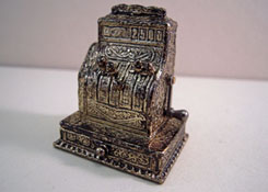 "1"" Scale Miniature Antique Cash Register"