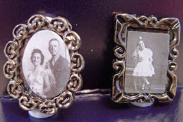 "1"" Scale Pair Of Antique Picture Frames"