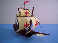 "1"" Scale Model Ship For Your Dollhouse"