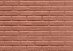"1/2"" Scale Red Rough Brick"