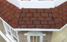 "1"" Scale Alessio Miniatures Red Square Asphalt Shingles"