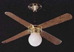 "1"" Scale Ceiling Fan with Removable Globe"