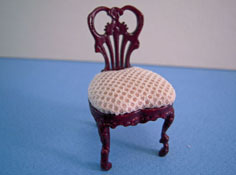 "Bespaq 1/2"" Scale Mahogany ""Fair Lady"" Gossip Side Chair"