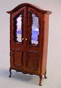 "Bespaq 1/2"" Scale Miniature ""Sweet Home"" Walnut Baby's Armoire"