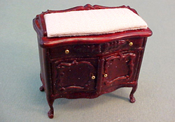 Bespaq 1/2&quot; Scale Miniature &quot;Sweet Home&quot;  Mahogany Changing Table