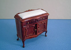 Bespaq 1/2&quot; Scale Miniature &quot;Sweet Home&quot;  Walnut Changing Table 