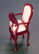 Bespaq 1/2&quot; Scale Miniature &quot;Sweet Home&quot;  Mahogany High Chair