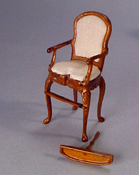 "Bespaq 1/2"" Scale Miniature  ""Sweet Home"" Walnut High Chair"