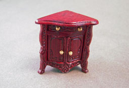 "Bespaq 1/2"" Scale Mahogany French Provincial Small Corner Cabinet"