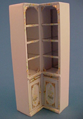 "Bespaq 1/2"" Scale Hand Painted Emporium Corner Shelves"