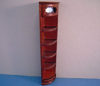 "1/2"" Scale Bespaq Walnut Emporium End Corner Shelf"