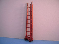 "Bespaq 1/2"" Scale Miniature Walnut Emporium Ladder"