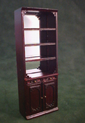 "Bespaq 1/2"" Scale Mahogany Emporium Open Display Case"