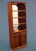 "Bespaq 1/2"" Scale Walnut Emporium Open Display Case"