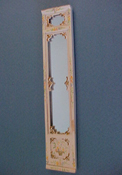 "Bespaq 1/2"" Scale Hand Painted Emporium Tall Wall Mirror"