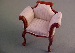 """1/2"""" Scale Bespaq Mahogany Emporium White Vanity Chair"""