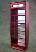 "Bespaq 1/2"" Scale Mahogany Emporium Slant Display Case"