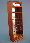 "Bespaq 1/2"" Scale Walnut Emporium Slant Display Case"