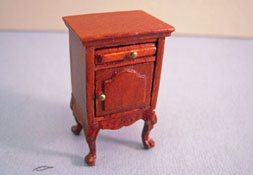 "Bespaq 1/2"" Scale Miniature Walnut ""Eloise"" Nightstand"