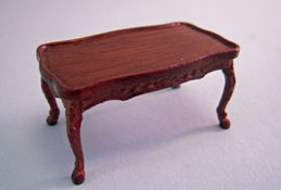 "Bespaq 1/2"" Scale Old Walnut Bouvier Coffee Table"
