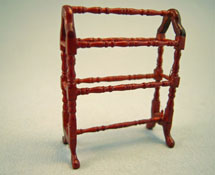 "1/2"" Scale Bespaq Belmont Walnut Quilt Rack"