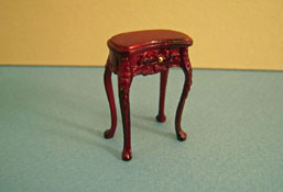 "Bespaq 1/2"" Scale Mahogany Haverson Kidney Side Table"