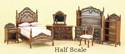 "Bespaq 1/2"" Scale Six Piece Walnut ""Liliana Chantal"" Youth Bed Set"