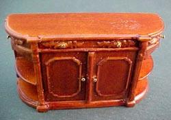 """Bespaq 1/2"""" Scale Miniature Walnut Portia Credenza"""