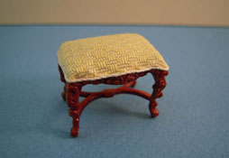 "1/2"" Scale Mi Lady's Yellow Walnut Vanity Bench"