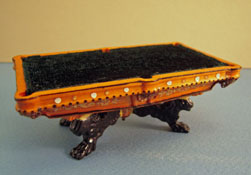 "Bespaq 1/2"" Scale Miniature Hand Painted Lion Pool Table"