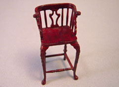 "Bespaq 1/2"" Scale Mahogany New Castle Bar Stool"