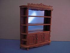 "Bespaq 1/2"" Scale Fruit Wood Carved Display Shelf"