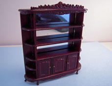 "Bespaq 1/2"" Scale Mahogany Carved Display Shelf"