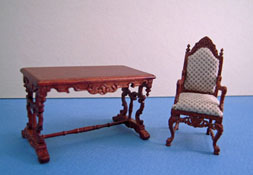 "Bespaq 1/2"" Scale Walnut Chestney Two Piece Library Set"