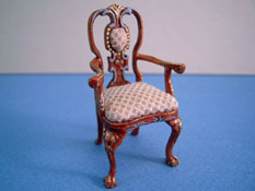 "Bespaq 1/2"" Scale Miniature Hand Painted Carrington Arm Chair"